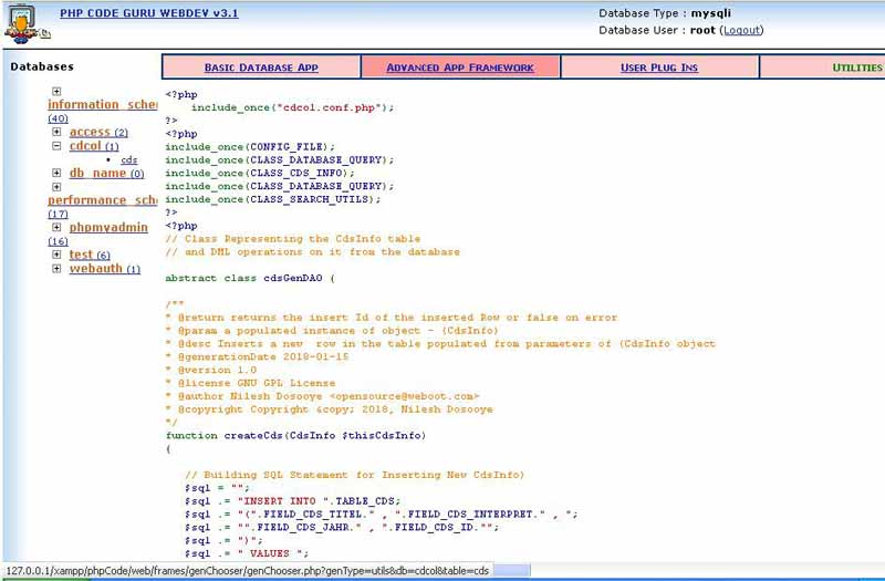 Php coder guru screen shots see how easy to use this framework is
